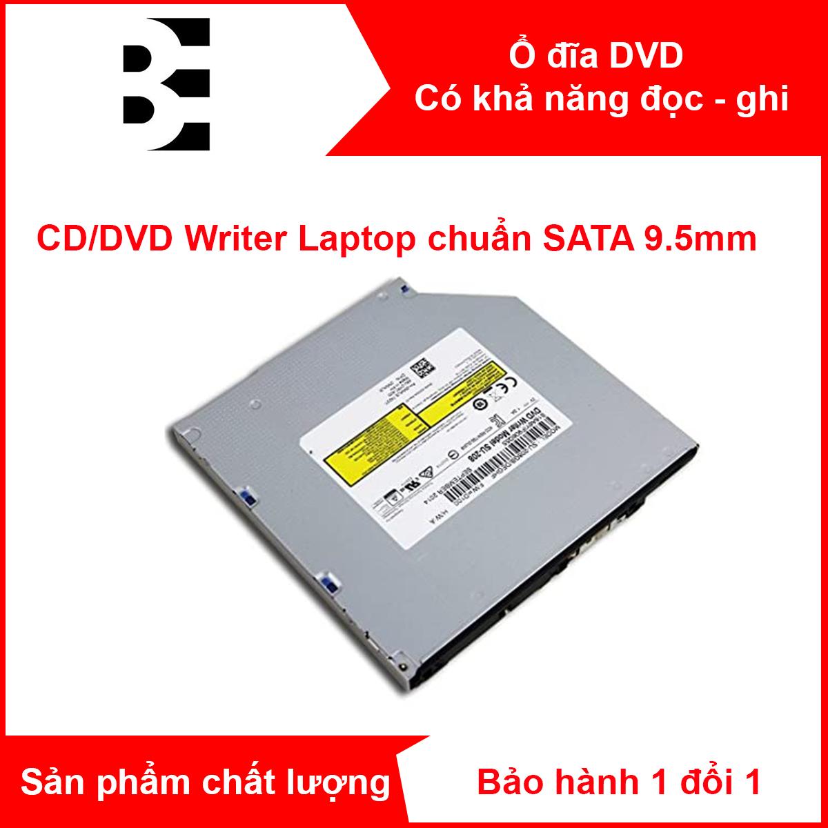 Ổ đĩa quang cho LAPTOP/ PC DVD-RW SATA tháo máy chuẩn SATA kích thước 9.5mm DVD Slim