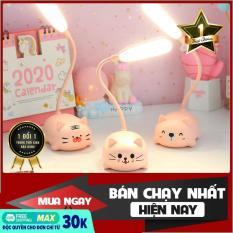 Đèn học để bàn hình mèo dễ thương – đèn học chống cận bảo vệ mắt – Đèn led bàn học, bàn ngủ tiện ích tiết kiệm điện, đèn LED pin sạc đa năng dễ thương hình mèo hổ