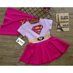 Váy đầm Siêu nhân Supergirl _ Samkids