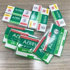 Bộ 10 món : 5 gel Acnes ngừa mụn và kháng khuẩn 2g/tuýt + 5 xấp giấy thấm dầu Acnes (50 tờ/xấp) + tặng 1 túi đựng mỹ phẩm xinh xắn