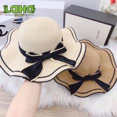 Mũ nón nữ, nón cói nữ, mũ cói nữ, mũ nón cói đi biển, thời trang mũ nón nam nữ, cói rộng vành, mũ rộng vành, mũ nón đi biển, mũ nón thời trang LaHa Shop – CDB010