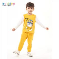 Đồ bộ thun in hình Beddep Kids Clothes cho bé gái từ 1 đến 8 tuổi B19