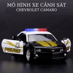 Mô Hình Siêu Xe Ô Tô Cảnh Sát Dubai Chevrolet Camaro Bằng sắt tỷ lệ 1:36 Cao Cấp Giá Rẻ- Đồ Chơi Trẻ Em KidPrO