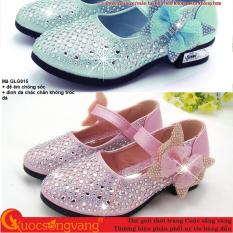 Giày bé gái kiểu công chúa giày công chúa bé gái đế êm đính đá GLG015