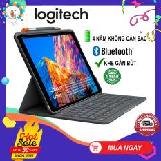 Bao Da Kèm Bàn Phím Logitech Slim Folio Kết Nối Bluetooth Dành Cho iPad Gen 7 10.2 inch 2019 iPad Air 3 iPad Pro 10.5 inch Dùng 4 năm không cần sạc pin Khe đựng bút cảm ứng Hàng chính hãng Bảo hành 1 năm