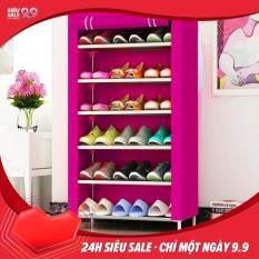 Tủ giày dép 7 tầng 6 ngăn bọc vải cao cấp giá rẻ / Kệ đa năng, giá để giày dép khung inox 7 tầng, ke giay dep cao cap ( Được chọn màu) -Hàng hot 2019