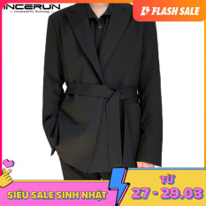 (Korea Style) Áo vest blazer công sở dành cho nam phong cách Hàn Quốc dáng suông trẻ trung size lớn INCERUN