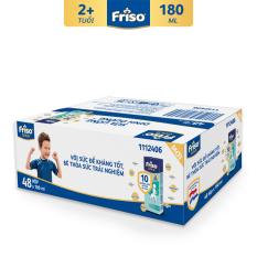 [Thu thập Voucher 80K cho đơn 799K] Thùng 48 hộp sữa bột pha sẵn Friso Gold Vani 180ml cho bé trên 2 tuổi