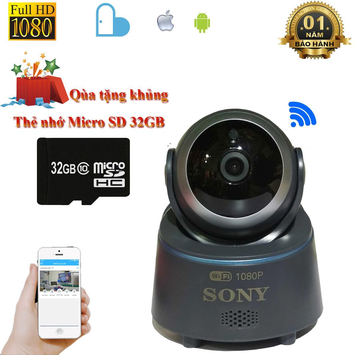 Camera wifi Sony FullHD1080 2.0 quay đêm hình ảnh sắc nét xem trực tiếp từ xa qua điện thoại Android...