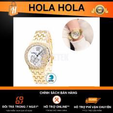 Đồng hồ đính full hột Geneva G6 hoạ tiết Bướm (Vàng)