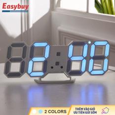 Đồng hồ số treo tường, phong cách INS, Đồng hồ lập thể phát sáng LED, Đồng hồ phong cách trang trí phòng ngủ
