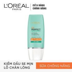 Kem chống nắng bảo vệ toàn diện se mịn lỗ chân lông & chống ô nhiễm L'Oreal Paris UV Perfect fresh & Matte SPF50/PA++++