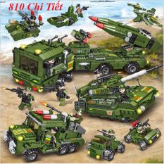 [810 CHI TIẾT] BỘ ĐỒ CHƠI XẾP HÌNH LEGO Xe Tăng, Lego Cảnh Sát, Lego Xe Pháo, Lego Máy bay, Lego Robot, Lego Oto