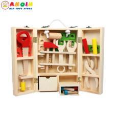 Đồ chơi hộp công cụ gỗ cho bé tập làm kỹ sư sửa chữa – tủ ốc vít