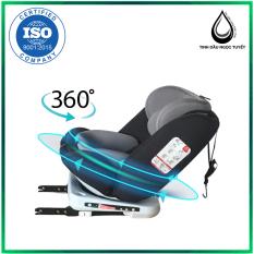 Ghế ô tô cho bé 2 chiều CHUẨN ISO 9001, xoay quanh 360 độ, điều chỉnh 4 tư thế từ nằm tới ngồi, ngã 165 độ và có thể điều chỉnh độ cao 7 cấp cho bé từ 0-12 tuổi (đen)