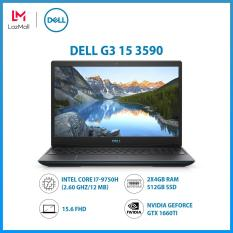 Laptop Dell G3 15 3590,Intel Core i7-9750H (2.60 GHz/12 MB/2x4GB RAM/512GB SSD/6GB NVIDIA GeForce GTX 1660Ti/15.6 FHD/Finger/WL+BT/McAfee MDS/Win 10 Home/1Yr) – Hàng Chính Hãng