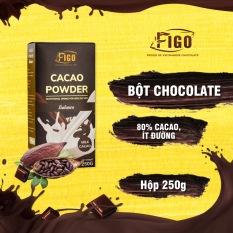 [PHA UỐNG LÀ NGHIỆN] Bột Sô cô la sữa 80% cacao pha uống dòng Balance Figo 250gram