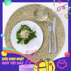 Phụ kiện bàn ăn Set 05 tấm đế lót bàn ăn tròn bằng lá buông dệt tay tinh xảo bằng lục bình