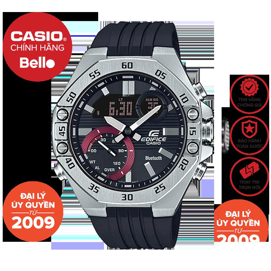 Đồng hồ Nam dây nhựa Casio Edifice ECB-10P-1A chính hãng bảo hành 1 năm Pin trọn đời