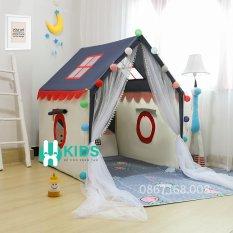 Lều Vải Hàn Quốc Cao Cấp, Lều Khung Gỗ Trẻ Em, Lều Ngôi Nhà Vui Chơi Cho Bé