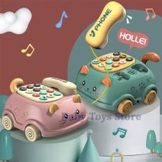 Điện thoại đồ chơi hình mèo có nhạc và đèn cho bé – Xe kéo đồ chơi ô tô hình mèo dành cho trẻ từ 0 đến 6tuổi – Đồ chơi âm nhạc co bé trai bé gái cute – Quà tặng sinh nhật cho các bé telephone