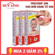 Combo 50 miếng gạc rơ lưỡi Đông Fa hàng Việt Nam, đồ dùng cho bé, vệ sinh cho bé, an toàn cho bé (RLDF50), Huy Linh