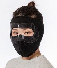 Khẩu trang Ninja có kính bảo vệ mắt kín mặt vải nỉ chống gió – bụi – sương mù – lạnh dán gáy che kín tai chạy xe phượt nam nữ
