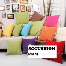 Vỏ gối tựa lưng sofa 40×40 SGCUSHION nhung gân – giao màu ngẫu nhiên