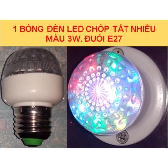 1 bóng LED trái chanh chóp tắt nhiều màu