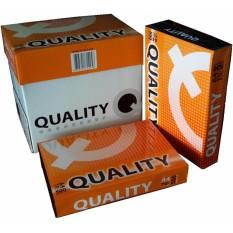 1 thùng 5 ream giấy A4 Quality định lượng 70gsm – 2500 tờ (Double A sản xuất)