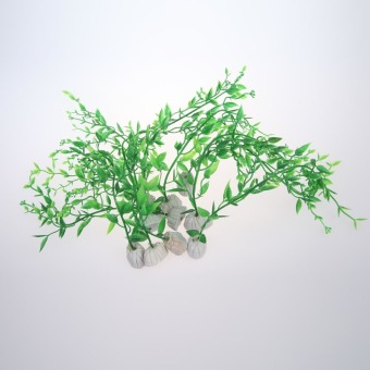 10 Pcs Artificial Plastic Aquatic Green Water Plant AquariumLandscaping (Intl)