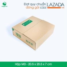 10 Thùng (Hộp) carton – Mã HN_M3 – Kích thước 20.5*20.5*7 (cm)