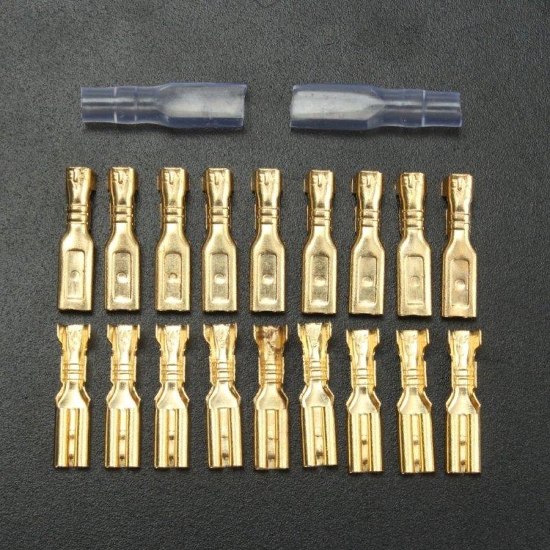 Bảng giá 100 Thiết Bị Đầu Cuối Gấp Nếp Đồng Dày Có Vỏ Bọc 2.8mm  22~16AWG   - Quốc Tế