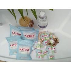 100 viên khăn giấy nén dạng viên kẹo , bột gỗ tự nhiên an toàn (trắng)