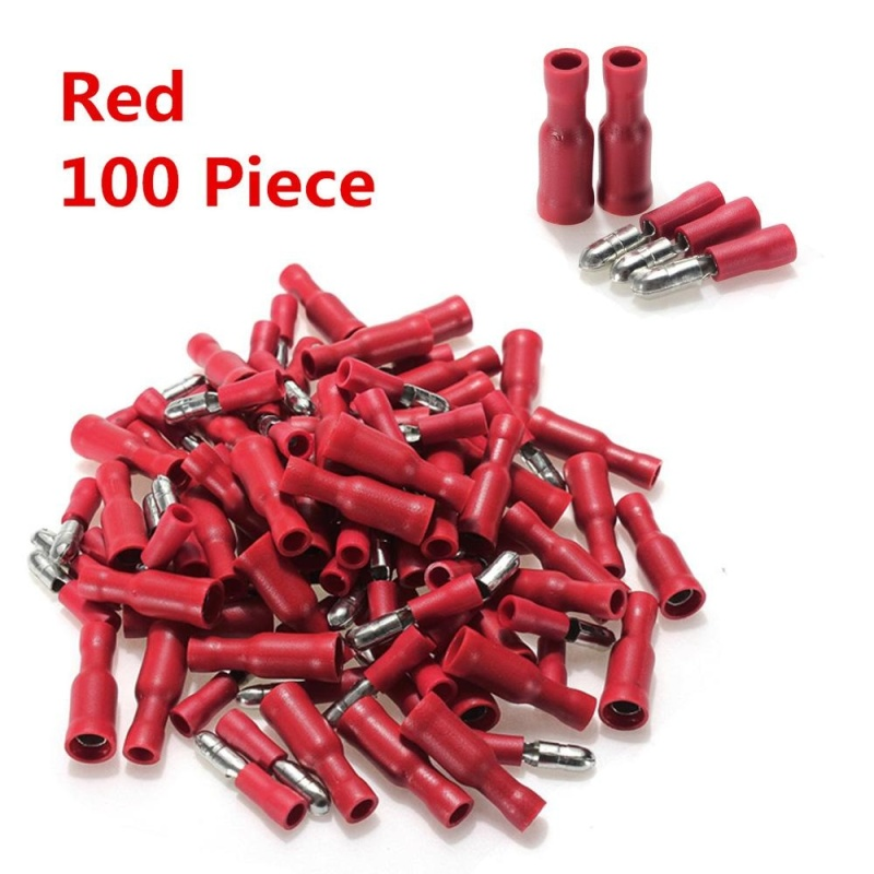 Bảng giá Mua 100pcs Bullet Crimp Red Male Female Insulated Terminals Connector - intl