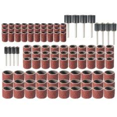 102PCS Rotary Sanding Band Drum Kit w/ Mandrels 1/2 3/8 1/4 120 Grit For - intl