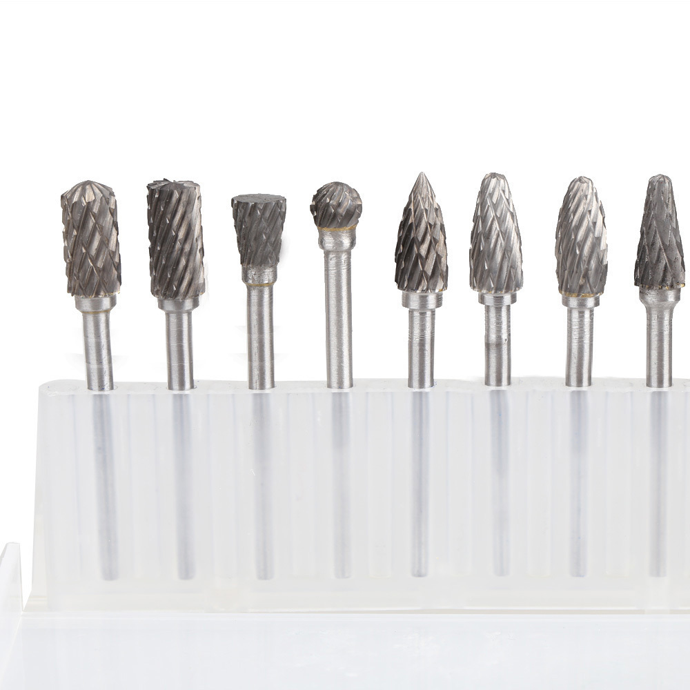 10X Solid Carbide Carbide Burrs for Rotary Drill Die GrinderCarving Bit (Intl)