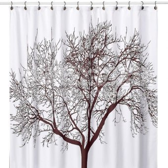 12 Hooks 180x180cm Waterproof Shower Curtain With Tree Design -intl