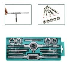 12pcs/Set Metric Handle Tap and Die Set M3-M12 Wrench ThreadPlugsStraight Taper Drill Repair Kits - intl