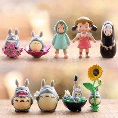 12X Mini My Neighbor Totoro Family Figure DIY Moss Micro Landscape Toys Multi - intl