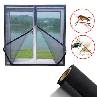 150x130cm Insect Fly Mosquito Bug Window Mesh Screen Black - intl