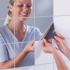 16 Cái Đề Can Dán Tường Vuông, Tự Dính, Chống Thấm Trang Trí Phòng Tắm, Nhà Bếp Kích Cỡ : 0.1mm – Quốc Tế