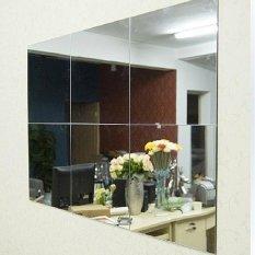 16 cái Phòng Tắm Vuông Removeable Tự adhesi vệ Mosaic Ốp Gương Treo Tường S tickers Trang Trí Nhà-quốc tế