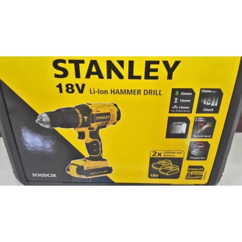 Hình ảnh 18V Máy khoan vặn vít động lực dùng pin Stanley SCH20C2