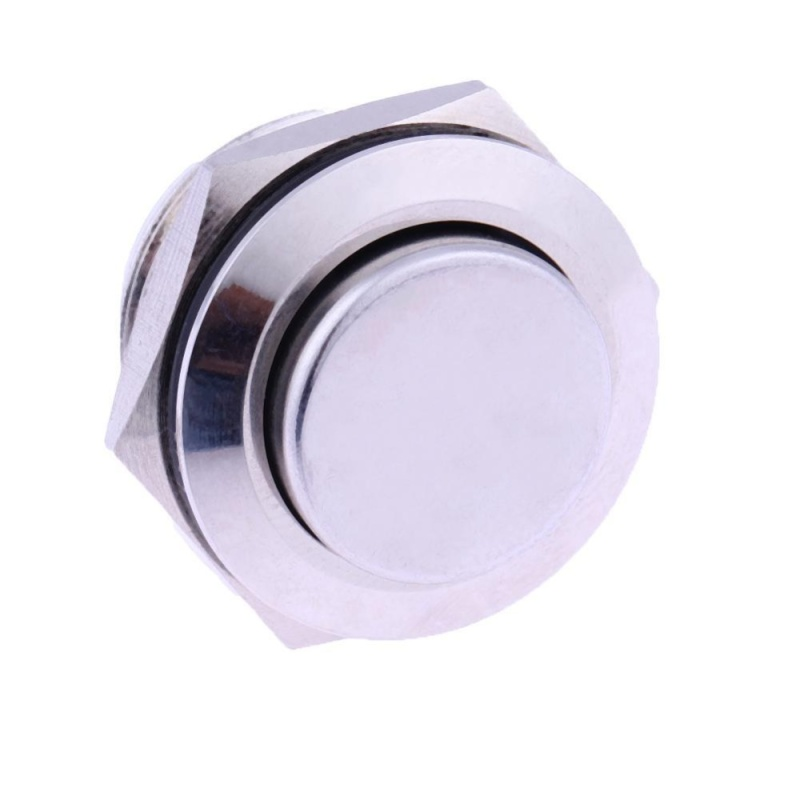 Bảng giá Mua 19mm Waterproof Momentary Stainless Steel Push Button Switch (Silver) - intl