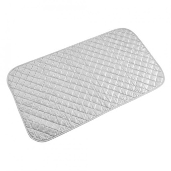 1Pc Portable Foldable Cotton Ironing Mat Silver Laundry Pad Home Use (48 * 85cm) - intl