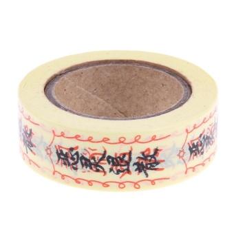 1Roll DIY Paper Chinese Word Decorative Sticker Masking Tape(Yellow) - intl - 8360975 , NO128HLAA93XAAVNAMZ-17999855 , 224_NO128HLAA93XAAVNAMZ-17999855 , 172000 , 1Roll-DIY-Paper-Chinese-Word-Decorative-Sticker-Masking-TapeYellow-intl-224_NO128HLAA93XAAVNAMZ-17999855 , lazada.vn , 1Roll DIY Paper Chinese Word Decorative Sticke