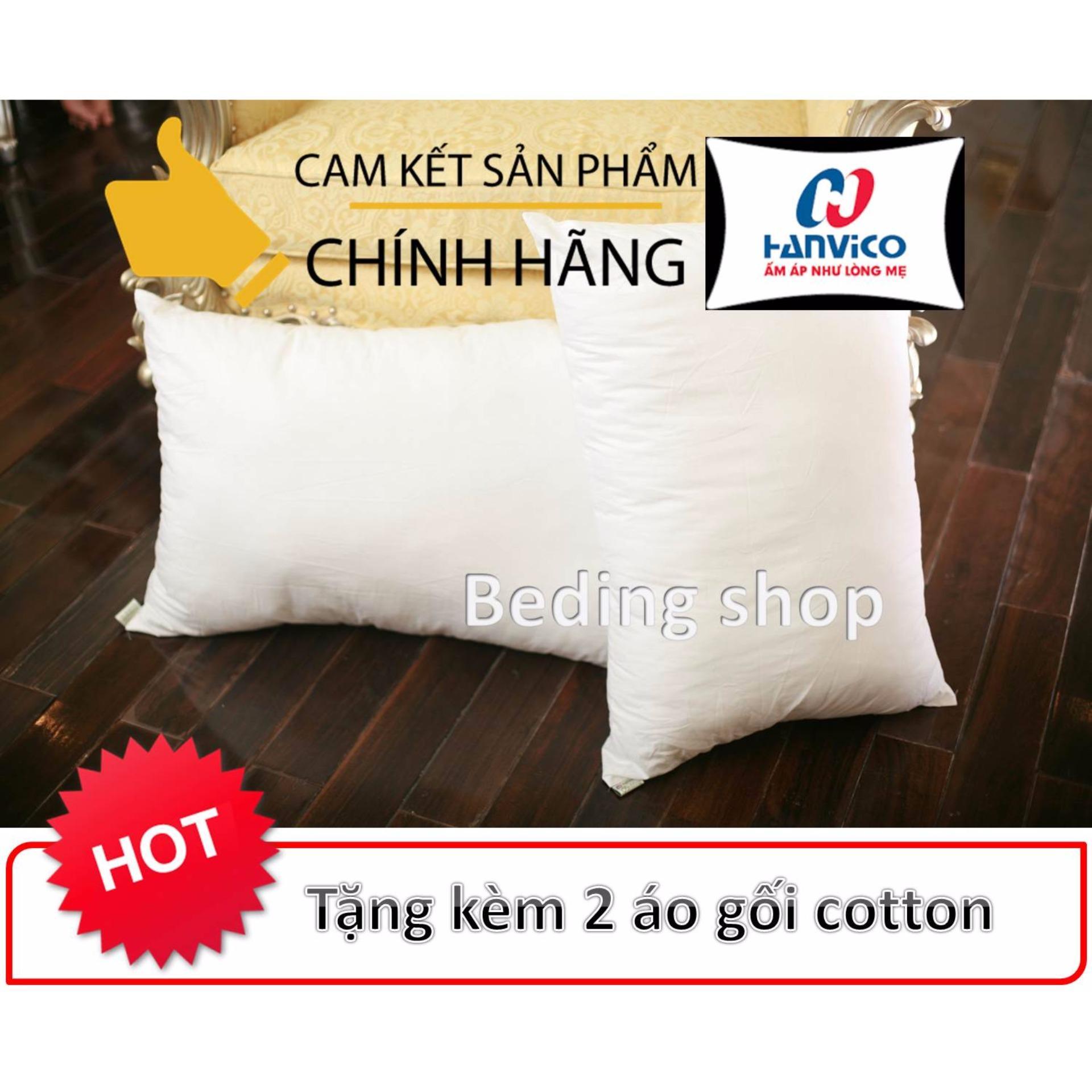 Trang bán 2 Ruột Gối Bông Hạt Hanvico (Tặng kèm 2 áo gối)