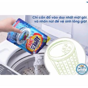 2 Túi Bột tẩy vệ sinh lồng máy giặt Hàn Quốc 450g+Tặng 01 bút bi