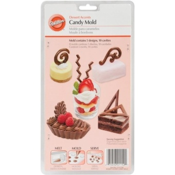2115-2102 Candy Mould - Dessert Accents, 10Cavities/5-Designs - intl